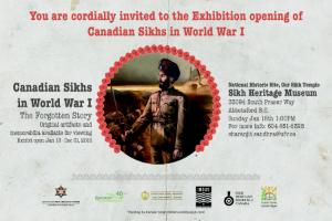 Sikhs in WWI Invitation Card