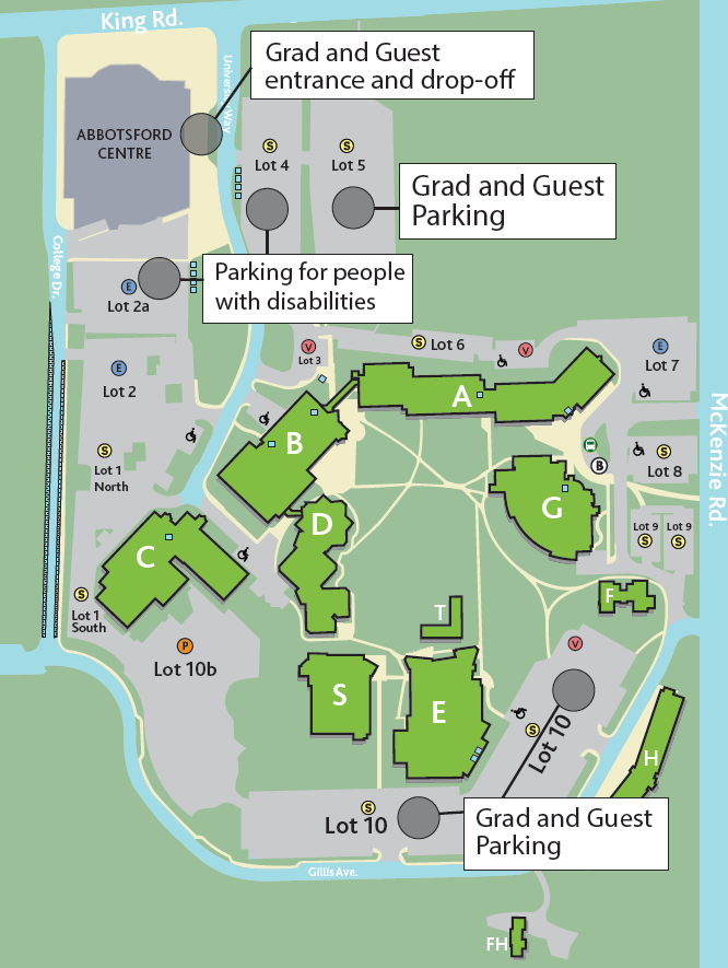 UFV Convocation Map