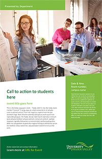 Marketing materials for UFV