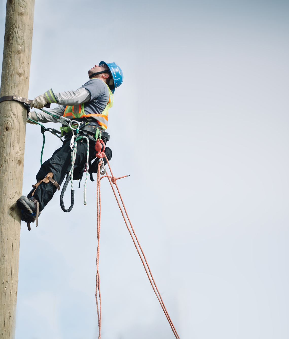 Train for a career as a power line technician