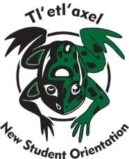 Chantelle Trainor-Matties' Indigenous frog logo designed for the New Student Orientation.